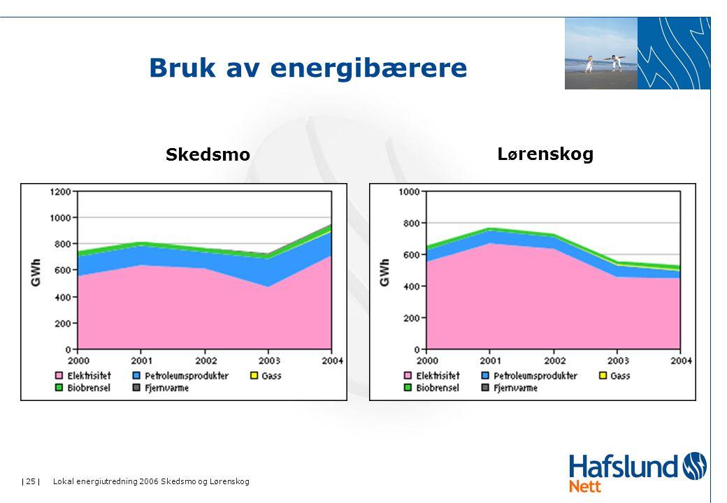 Bruk av energibærere Skedsmo Lørenskog