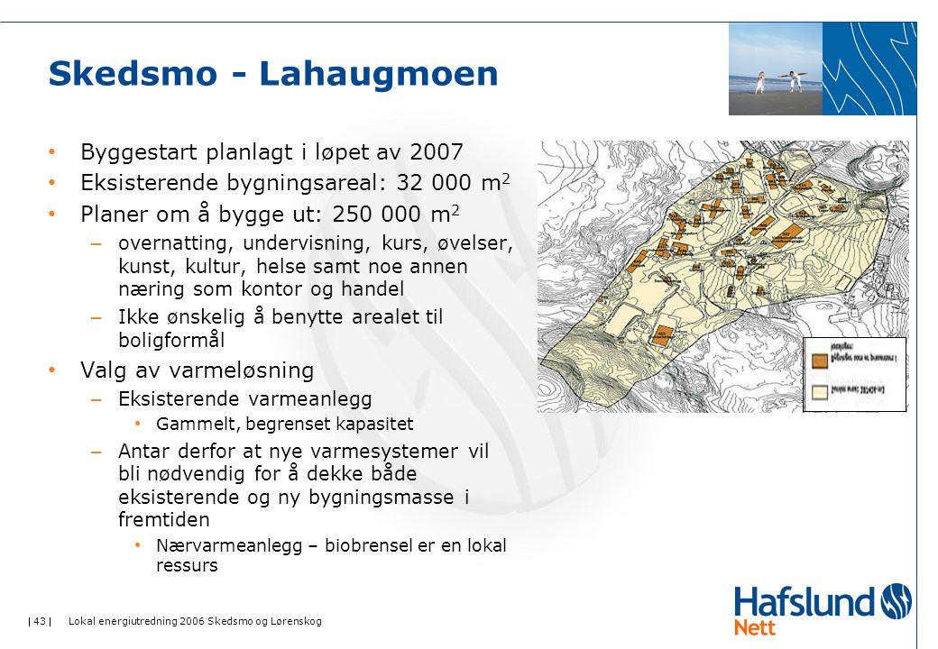 Skedsmo - Lahaugmoen Byggestart planlagt i løpet av 2007