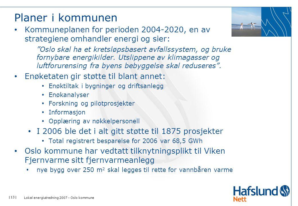 Planer i kommunen Kommuneplanen for perioden 2004-2020, en av strategiene omhandler energi og sier: