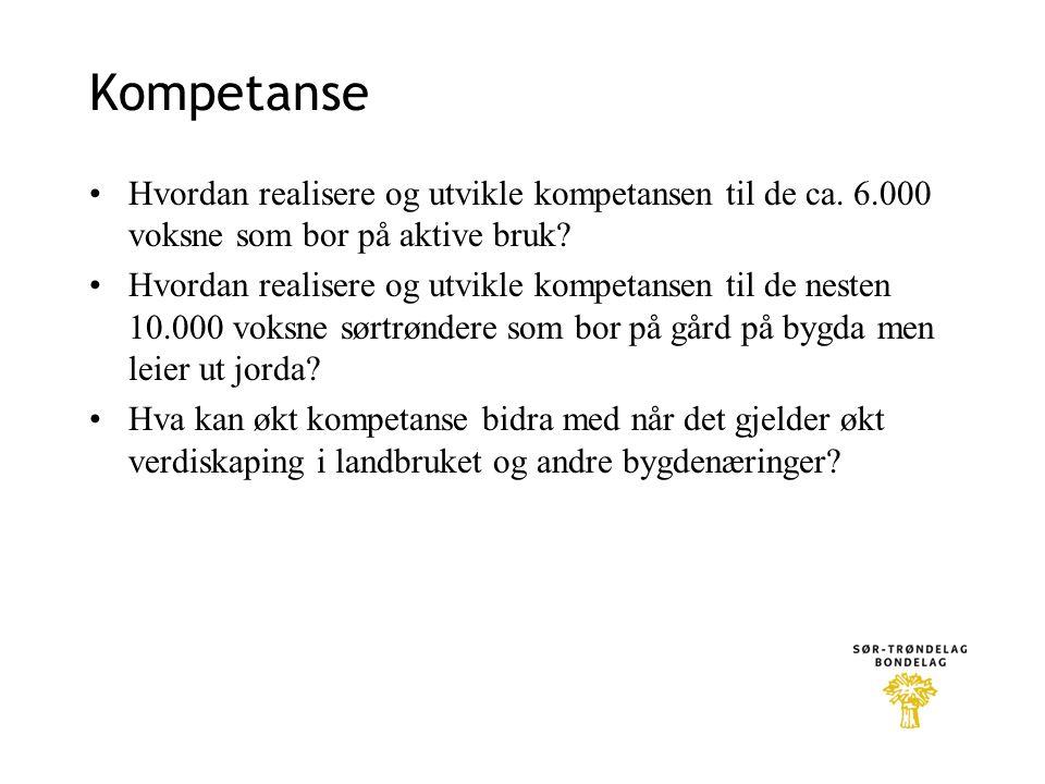 Kompetanse Hvordan realisere og utvikle kompetansen til de ca. 6.000 voksne som bor på aktive bruk