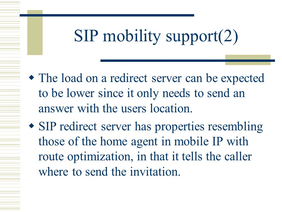 SIP mobility support(2)