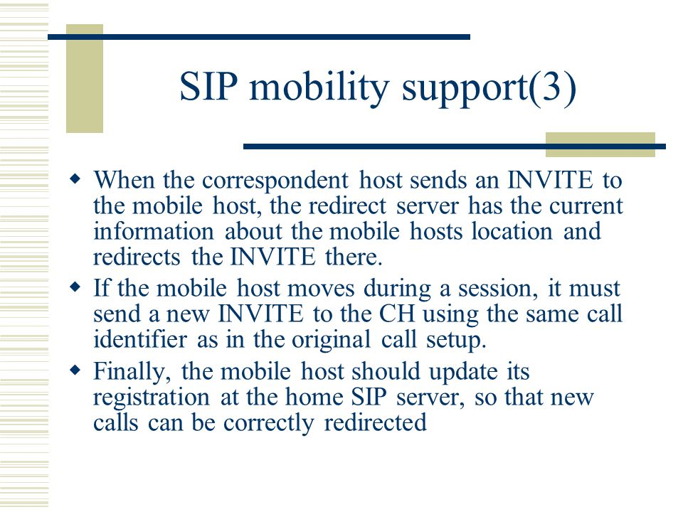 SIP mobility support(3)