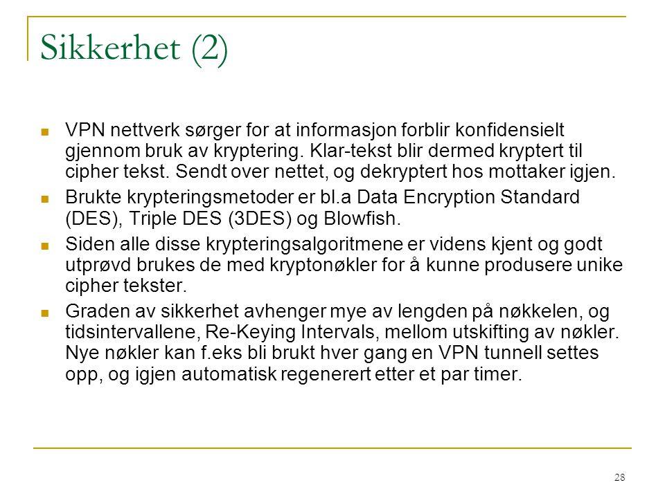 Sikkerhet (2)
