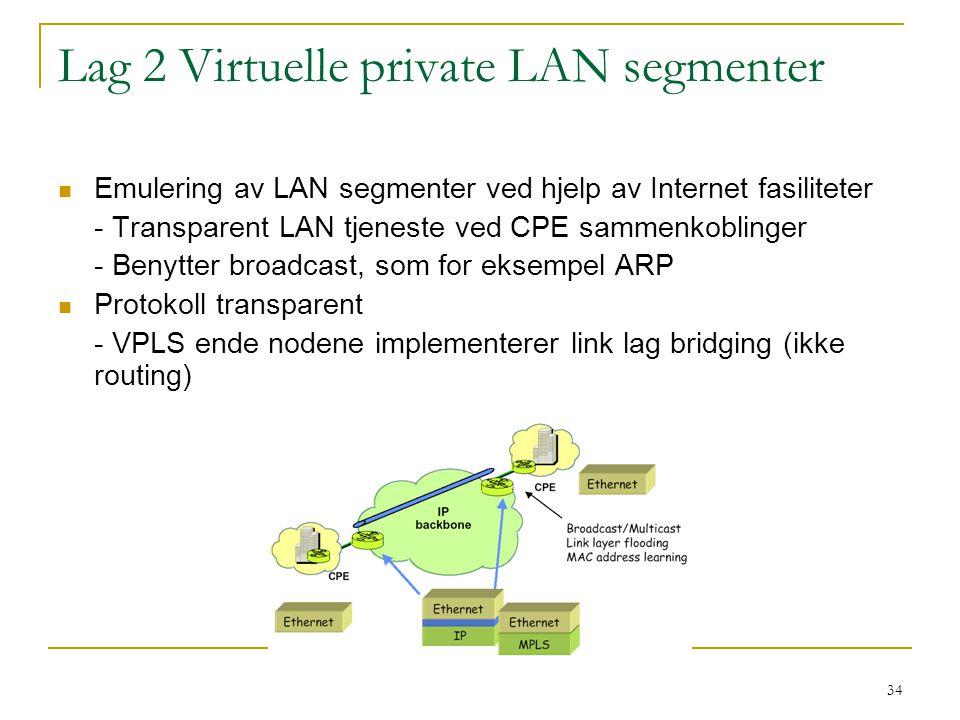 Lag 2 Virtuelle private LAN segmenter