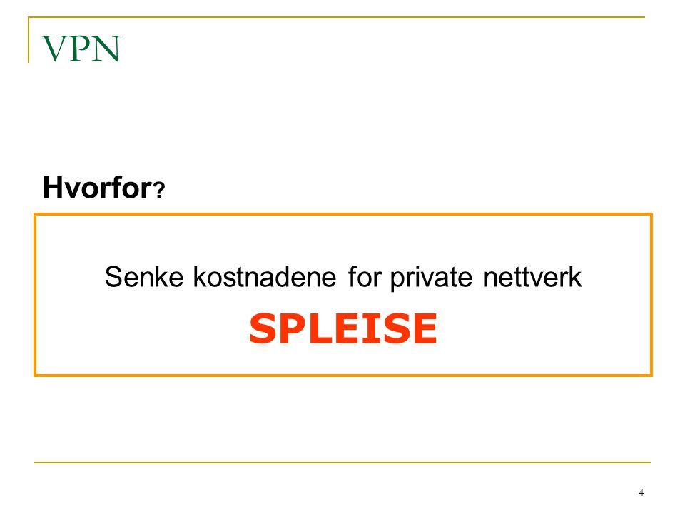 Senke kostnadene for private nettverk