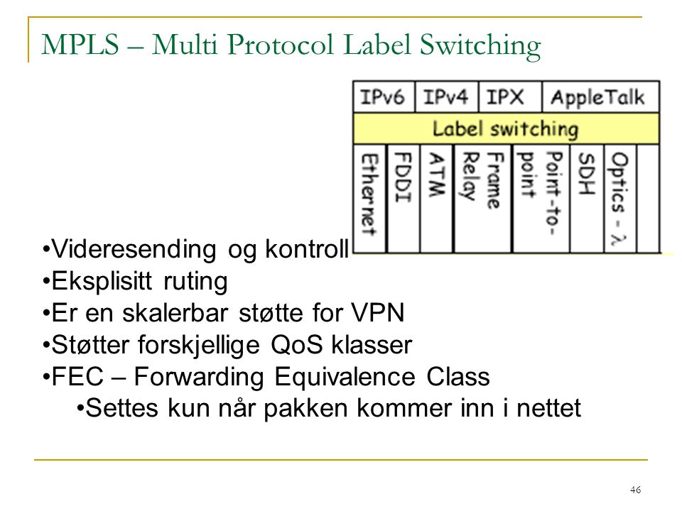 MPLS – Multi Protocol Label Switching