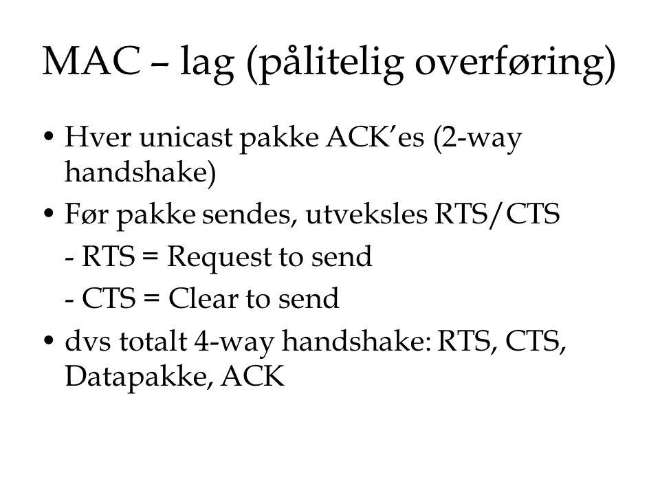 MAC – lag (pålitelig overføring)