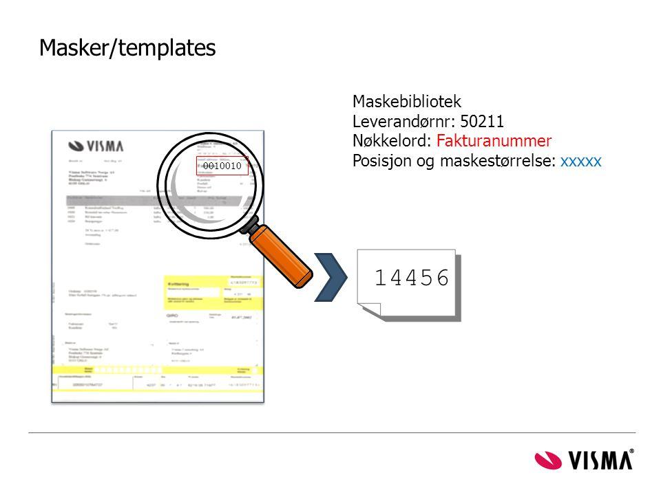 14456 Masker/templates Maskebibliotek Leverandørnr: 50211