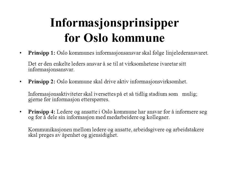 Informasjonsprinsipper for Oslo kommune