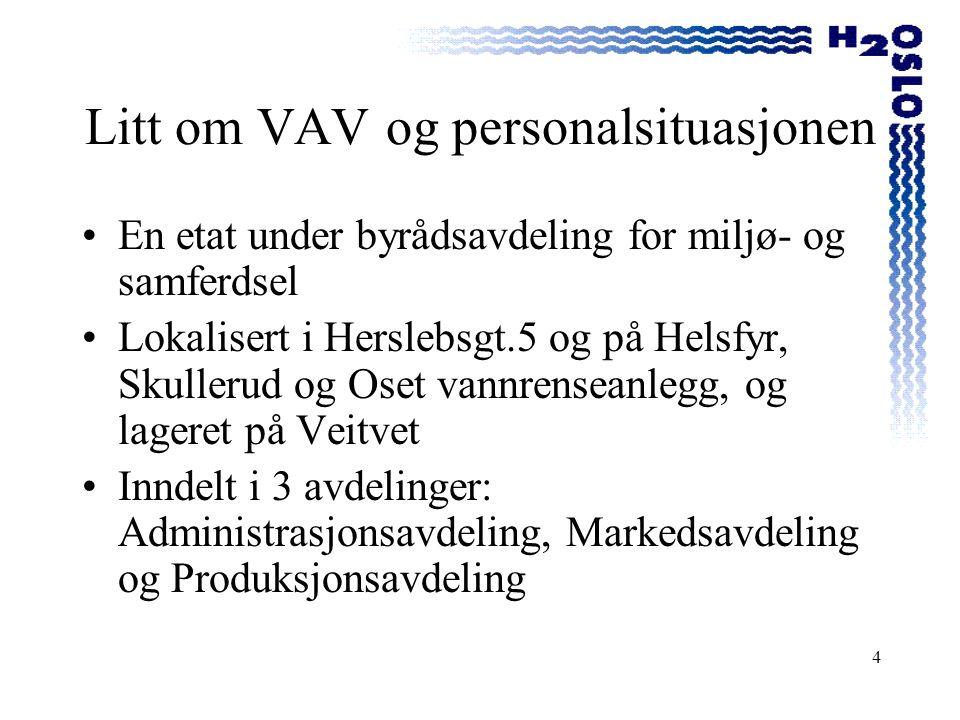 Litt om VAV og personalsituasjonen