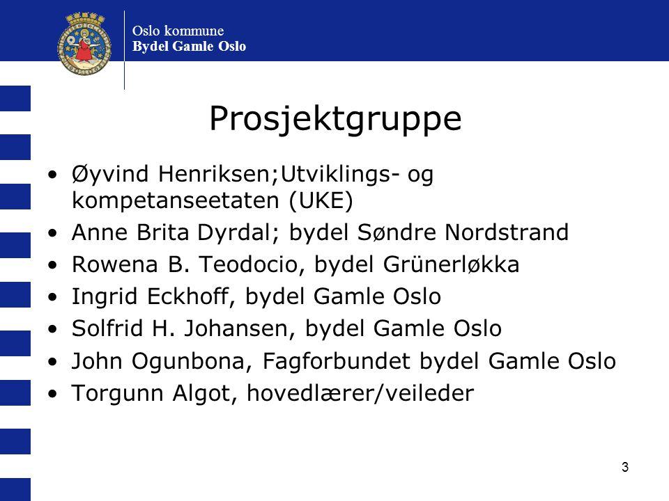 Prosjektgruppe Øyvind Henriksen;Utviklings- og kompetanseetaten (UKE)