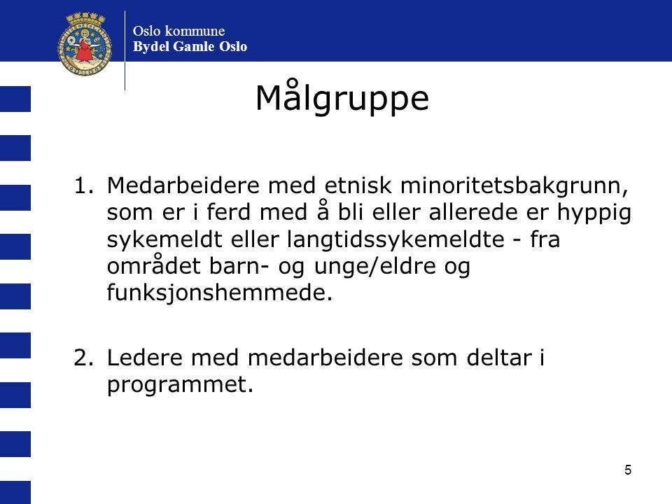 Oslo kommune Bydel Gamle Oslo. Målgruppe.