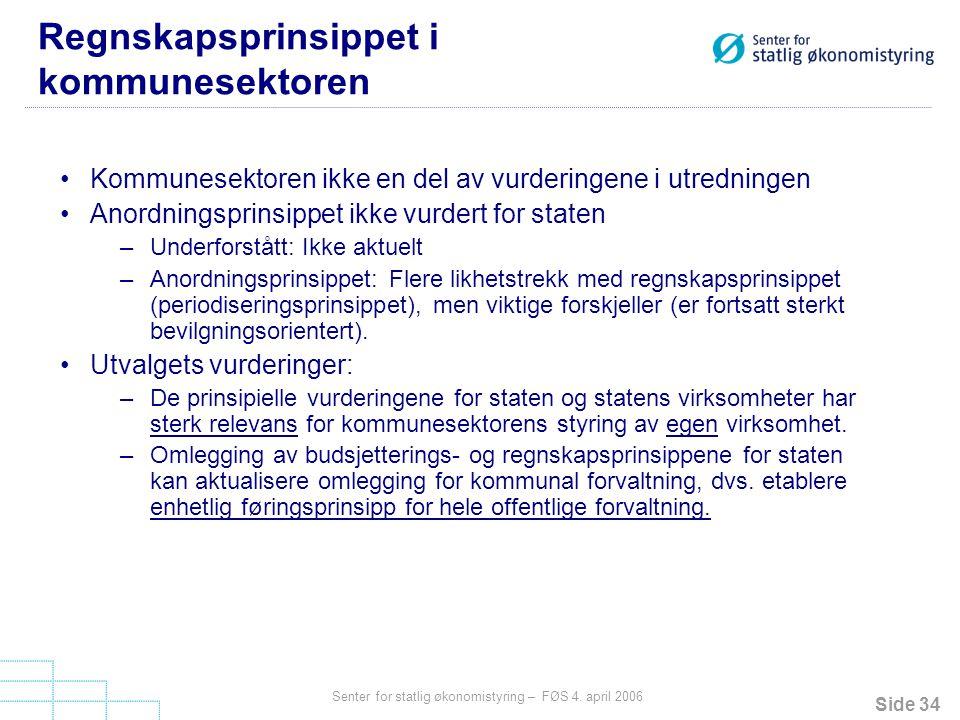 Regnskapsprinsippet i kommunesektoren