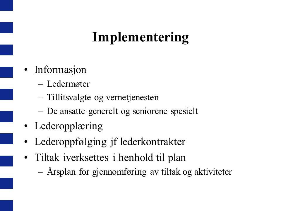 Implementering Informasjon Lederopplæring