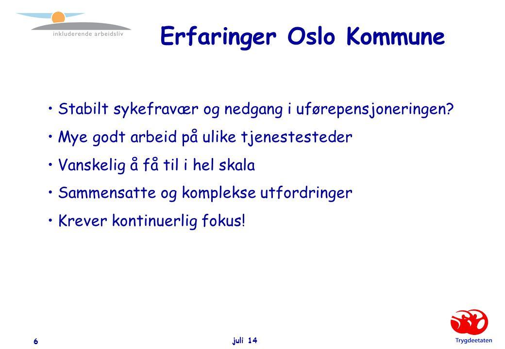 Erfaringer Oslo Kommune