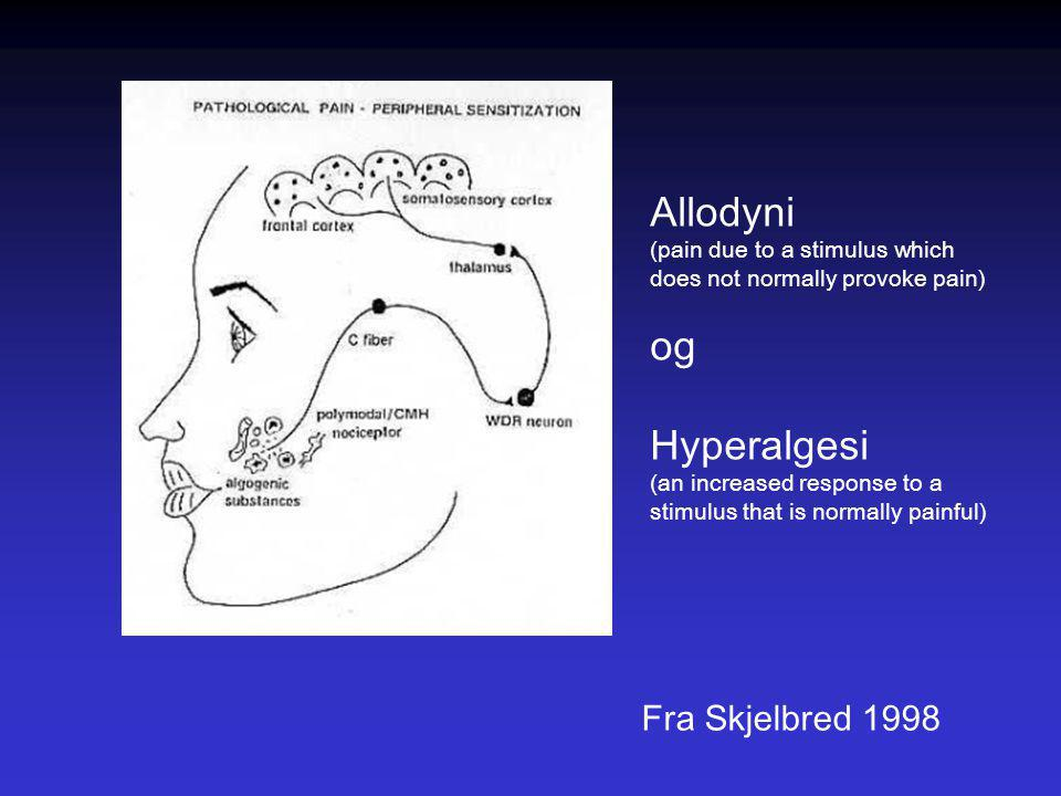 Allodyni og Hyperalgesi Fra Skjelbred 1998
