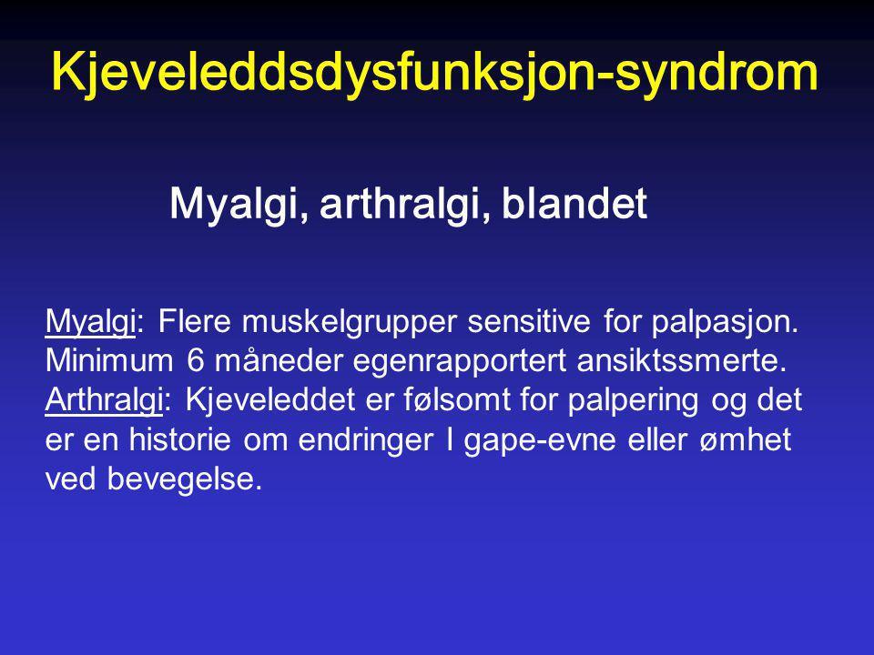 Kjeveleddsdysfunksjon-syndrom