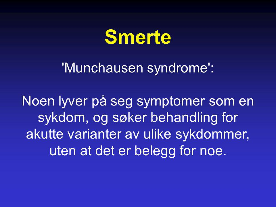 Smerte Munchausen syndrome :