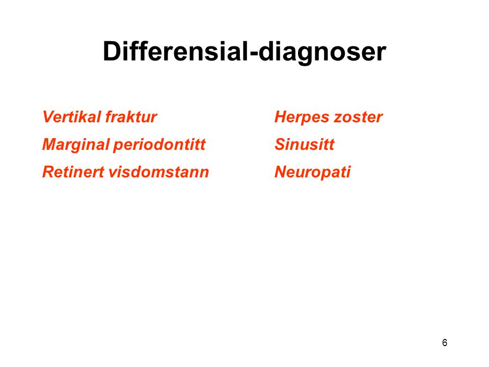 Differensial-diagnoser