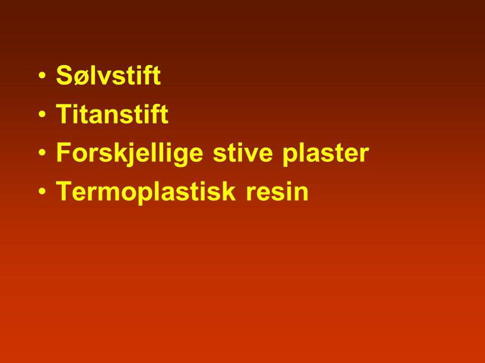 Sølvstift Titanstift Forskjellige stive plaster Termoplastisk resin