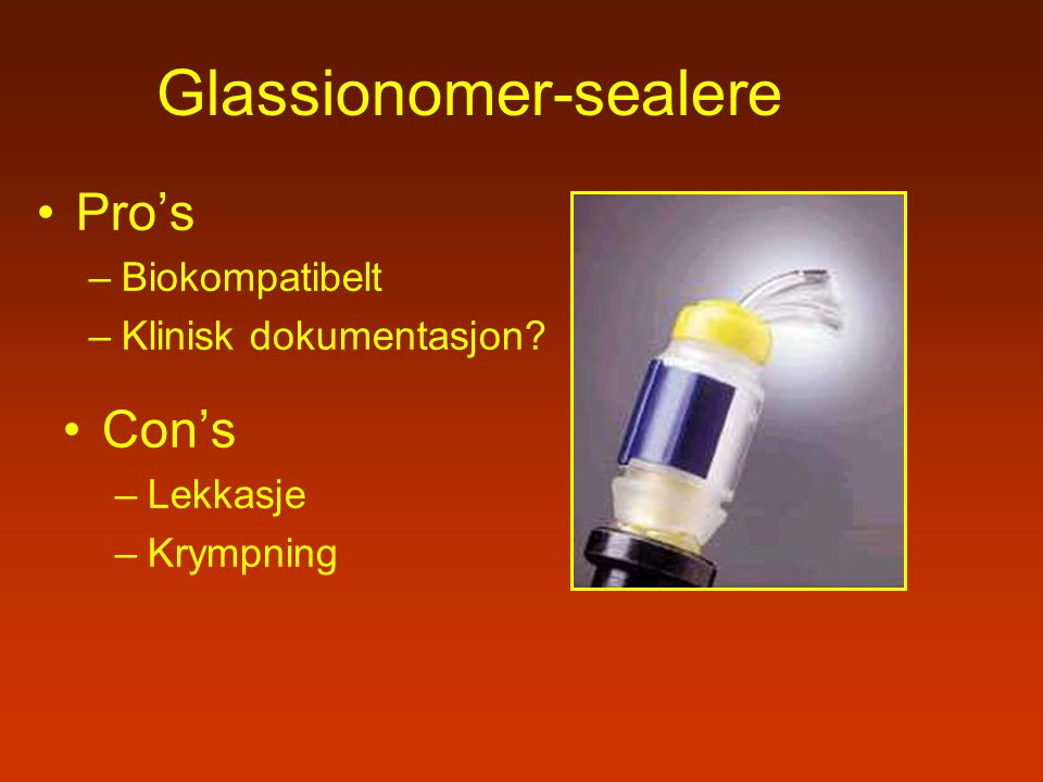 Glassionomer-sealere