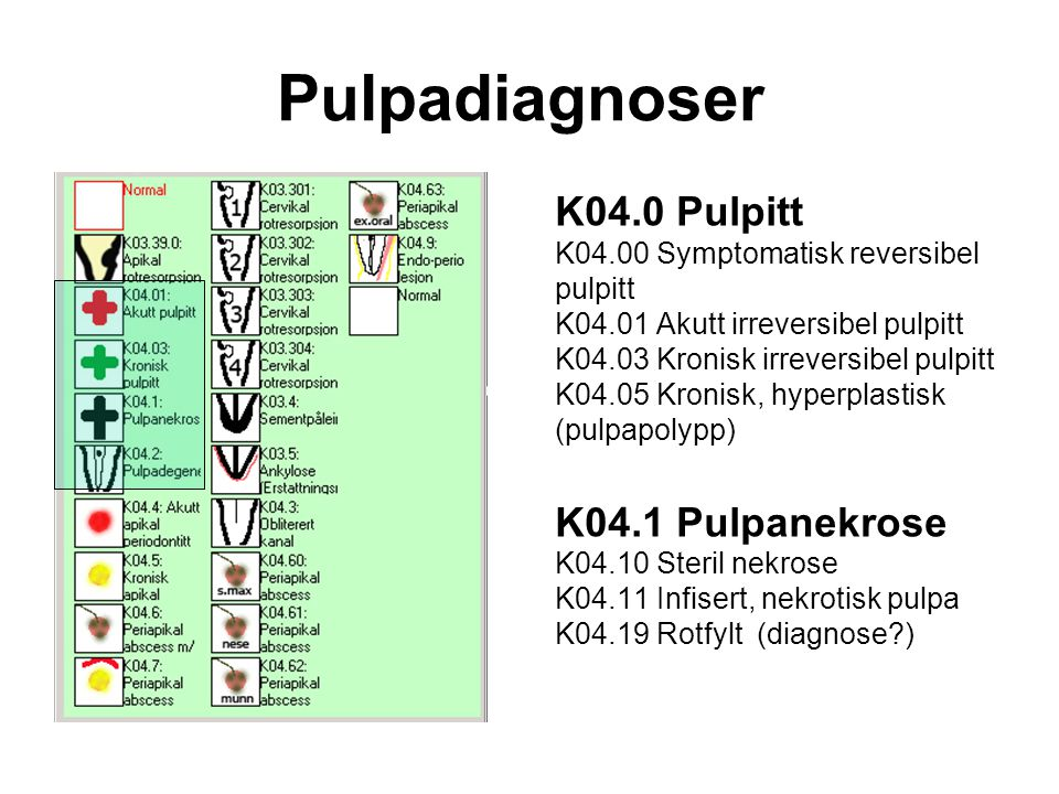 Pulpadiagnoser