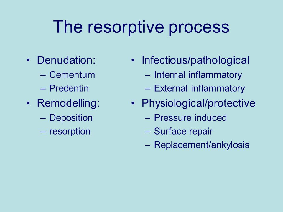 The resorptive process