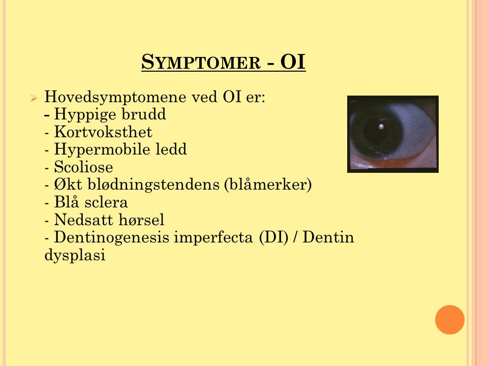 Symptomer - OI