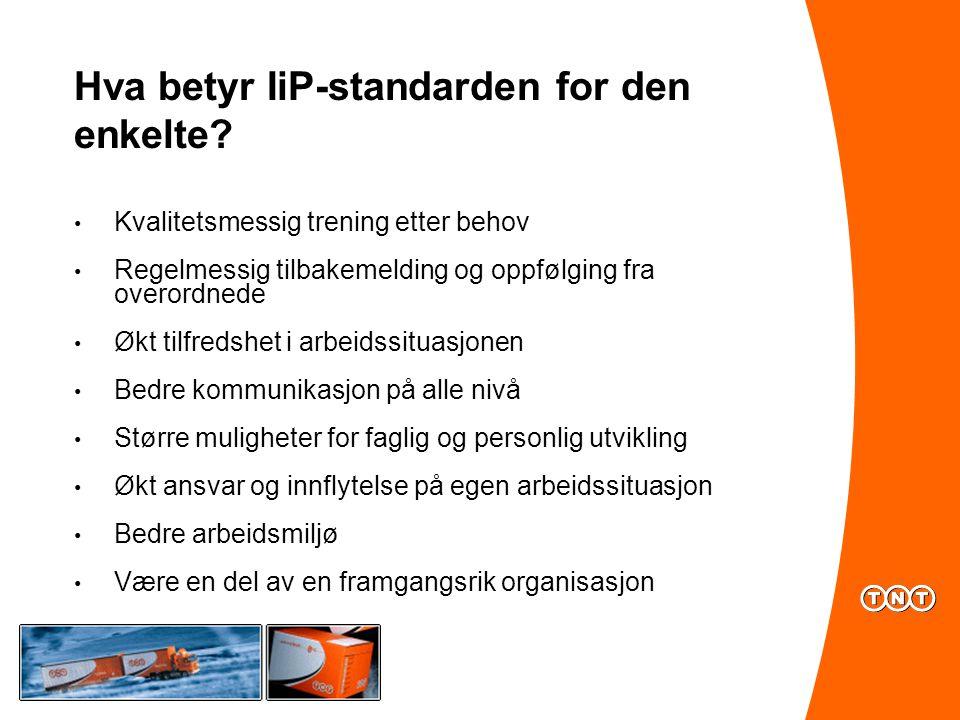 Hva betyr IiP-standarden for den enkelte