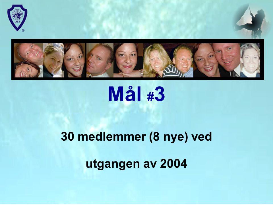 30 medlemmer (8 nye) ved utgangen av 2004