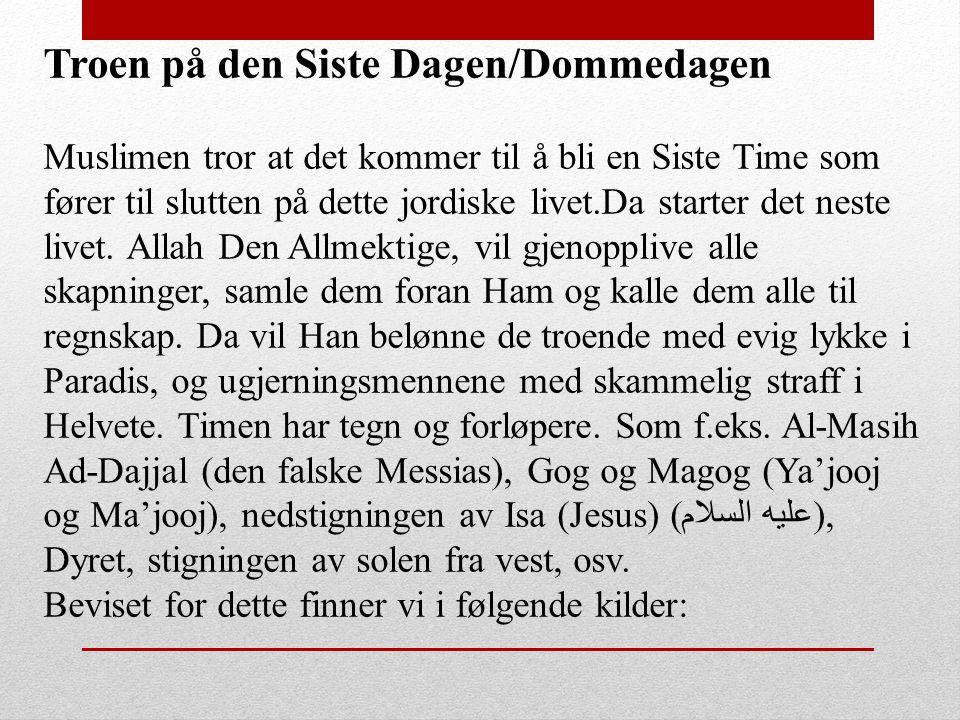 Troen på den Siste Dagen/Dommedagen