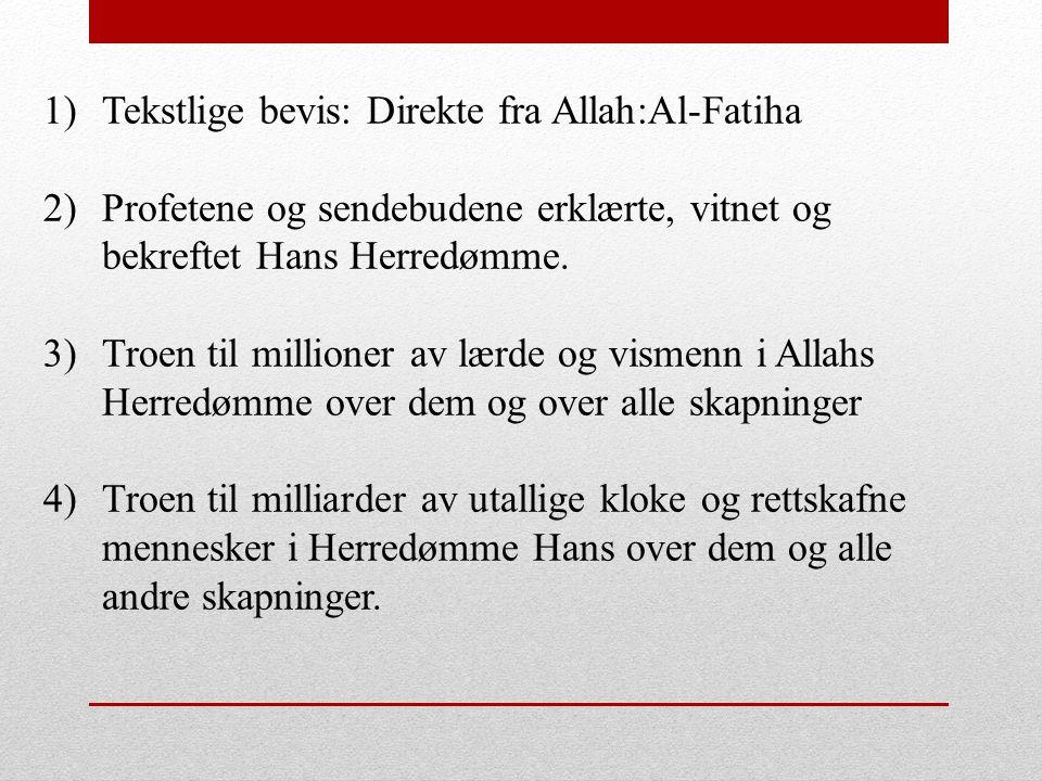 Tekstlige bevis: Direkte fra Allah:Al-Fatiha