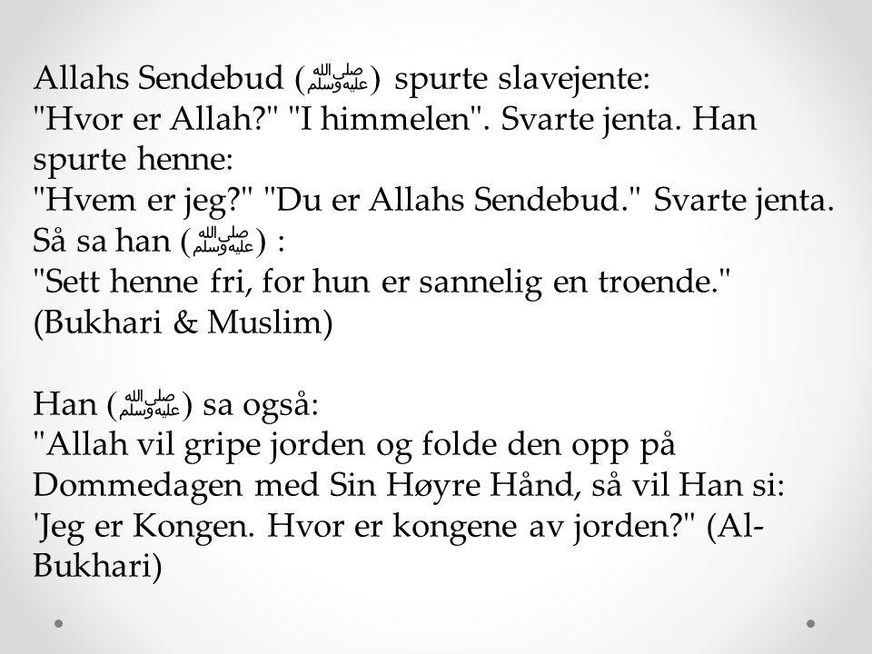 Allahs Sendebud (ﷺ) spurte slavejente: