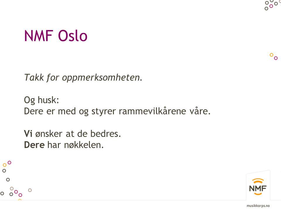 NMF Oslo Takk for oppmerksomheten. Og husk: