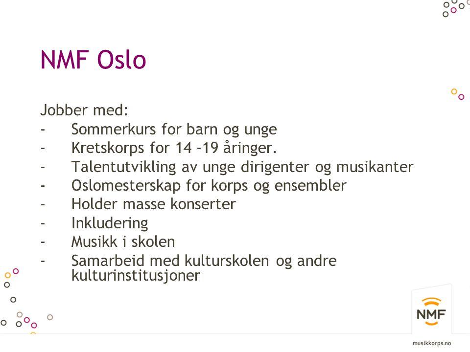 NMF Oslo Jobber med: Sommerkurs for barn og unge