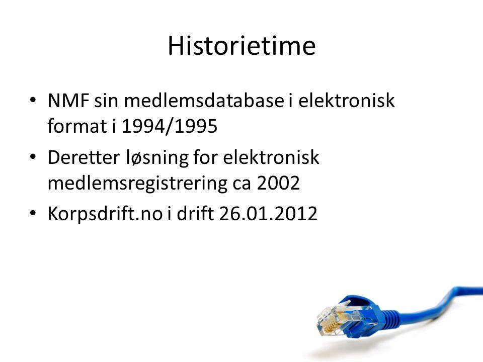 Historietime NMF sin medlemsdatabase i elektronisk format i 1994/1995