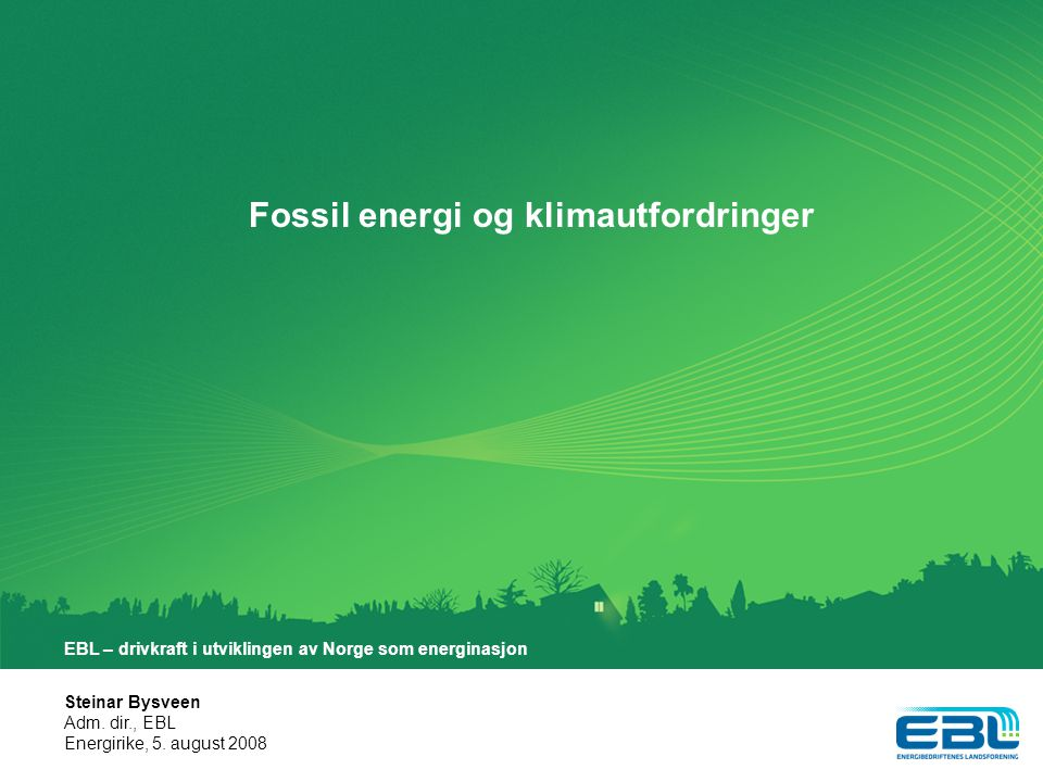 Fossil energi og klimautfordringer