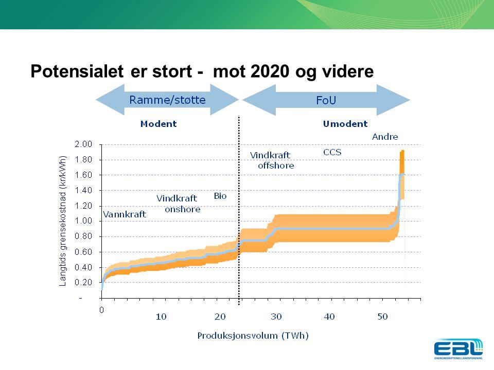 Potensialet er stort - mot 2020 og videre