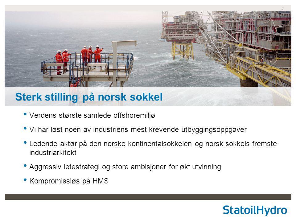 Sterk stilling på norsk sokkel