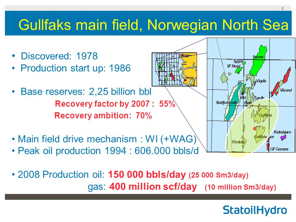 Gullfaks main field, Norwegian North Sea