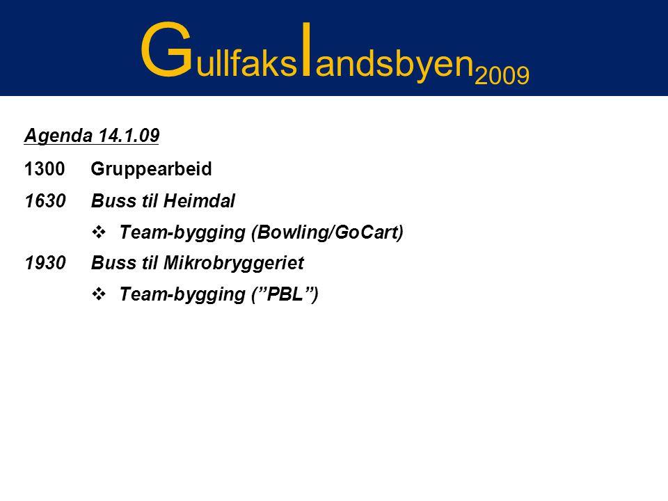 Gullfakslandsbyen2009 Gullfakslandsbyen 2007 Agenda 14.1.09