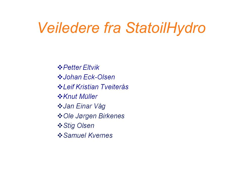 Veiledere fra StatoilHydro