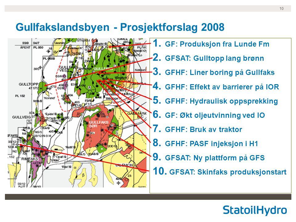 Gullfakslandsbyen - Prosjektforslag 2008