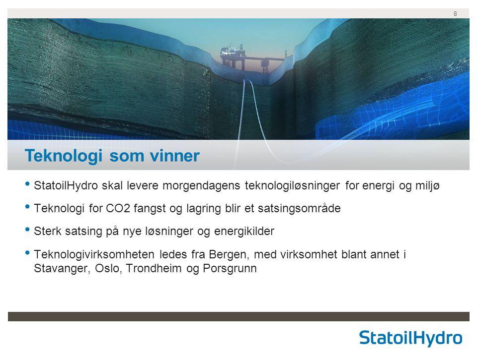 Teknologi som vinner StatoilHydro skal levere morgendagens teknologiløsninger for energi og miljø.