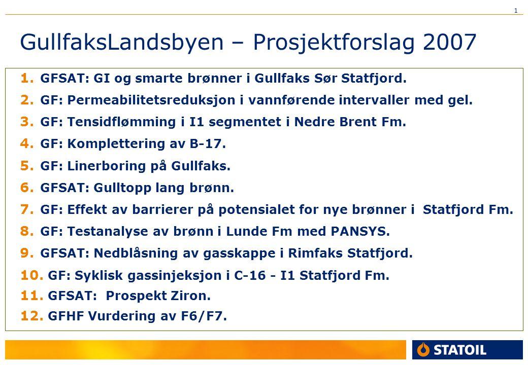GullfaksLandsbyen – Prosjektforslag 2007