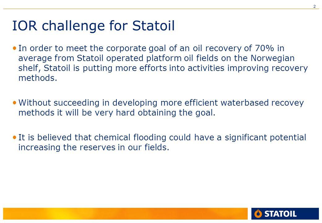 IOR challenge for Statoil