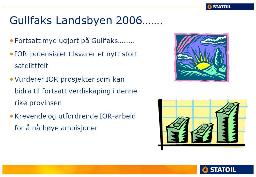 Gullfaks Landsbyen 2006……. Fortsatt mye ugjort på Gullfaks………