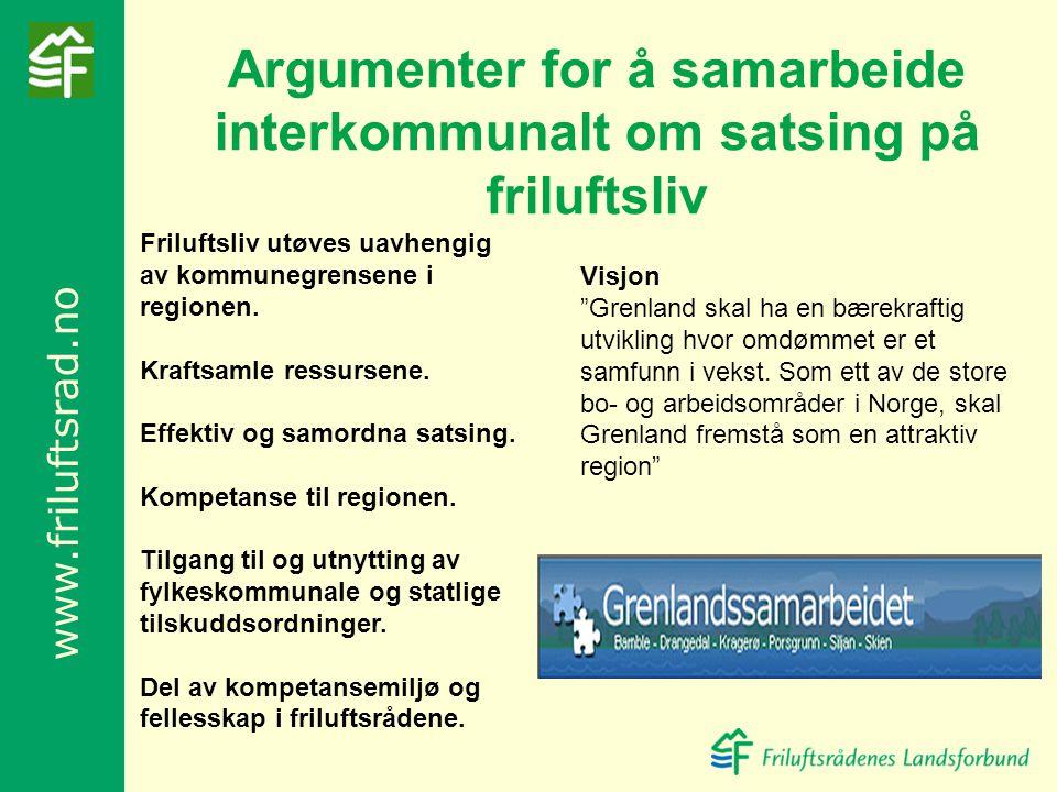 Argumenter for å samarbeide interkommunalt om satsing på friluftsliv