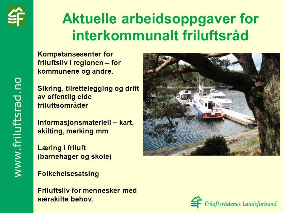 Aktuelle arbeidsoppgaver for interkommunalt friluftsråd