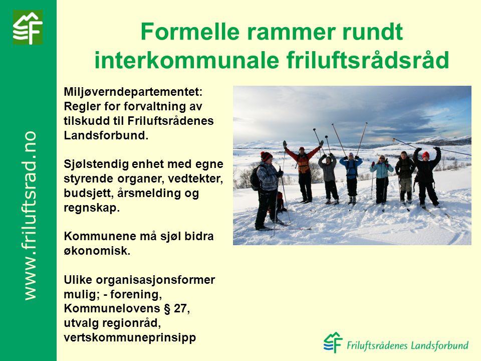 Formelle rammer rundt interkommunale friluftsrådsråd
